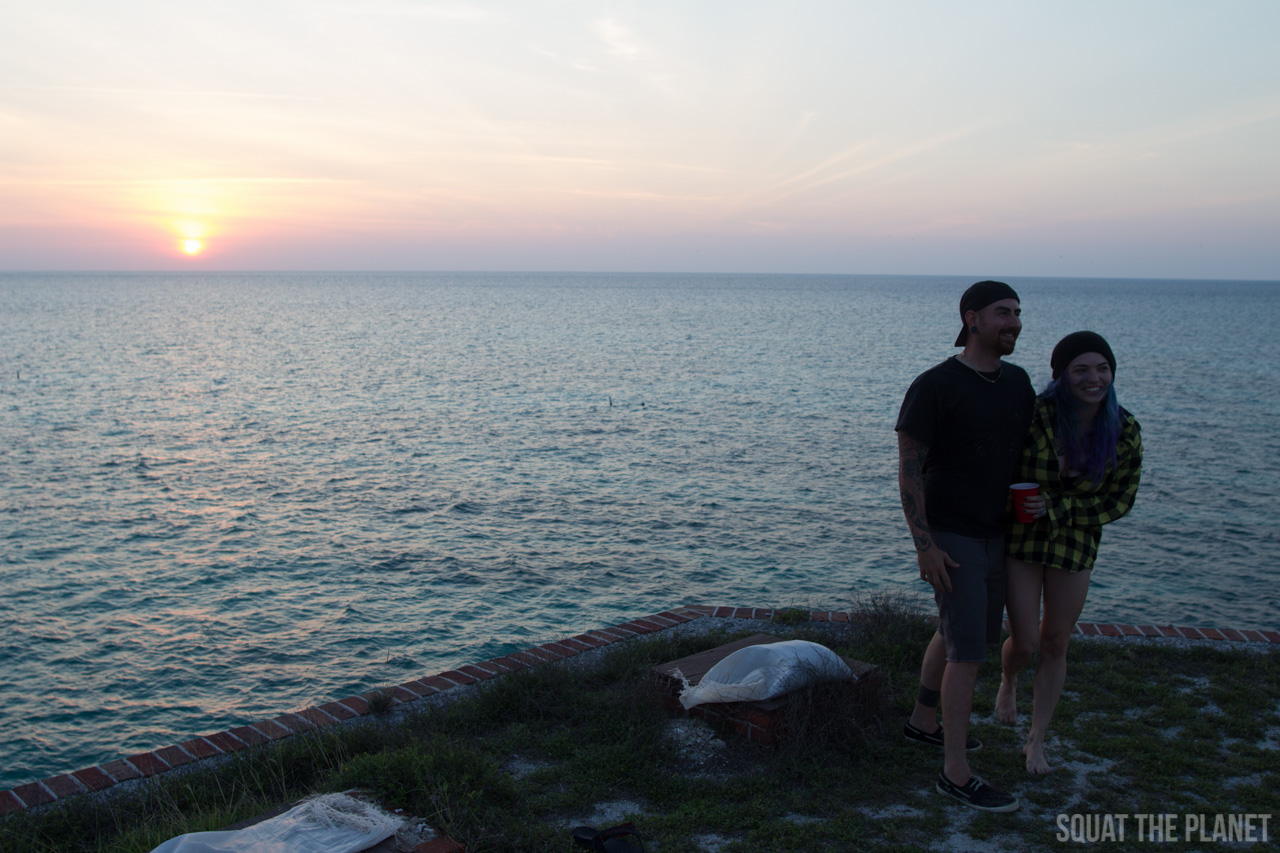 adam-and-lauren-at-sunset_05-08-2013-jpg.12007_Sailing the Dry Tortugas and Decapitation_Boat Punk / Sailing_Squat the Planet_5:19 PM