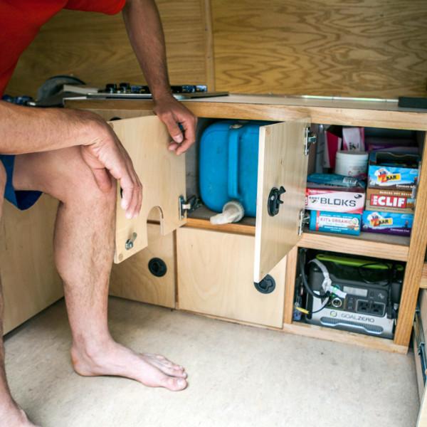 alex-honnold-snack-storage_ph-jpg.20692_Alex Honnold's Ultimate Adventure Vehicle_Van Dwelling / Rubber Tramping_Squat the Planet_9:30 AM