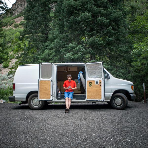 alex-honnold-van-open-doors_ph-jpg.20687_Alex Honnold's Ultimate Adventure Vehicle_Van Dwelling / Rubber Tramping_Squat the Planet_9:30 AM