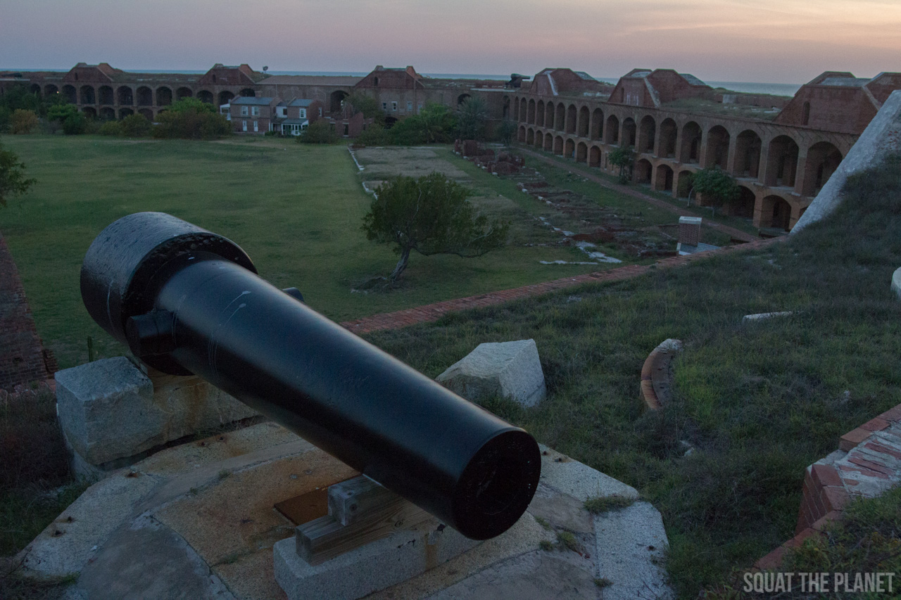 cannon-at-dusk_05-08-2013-jpg.12001_Sailing the Dry Tortugas and Decapitation_Boat Punk / Sailing_Squat the Planet_5:19 PM