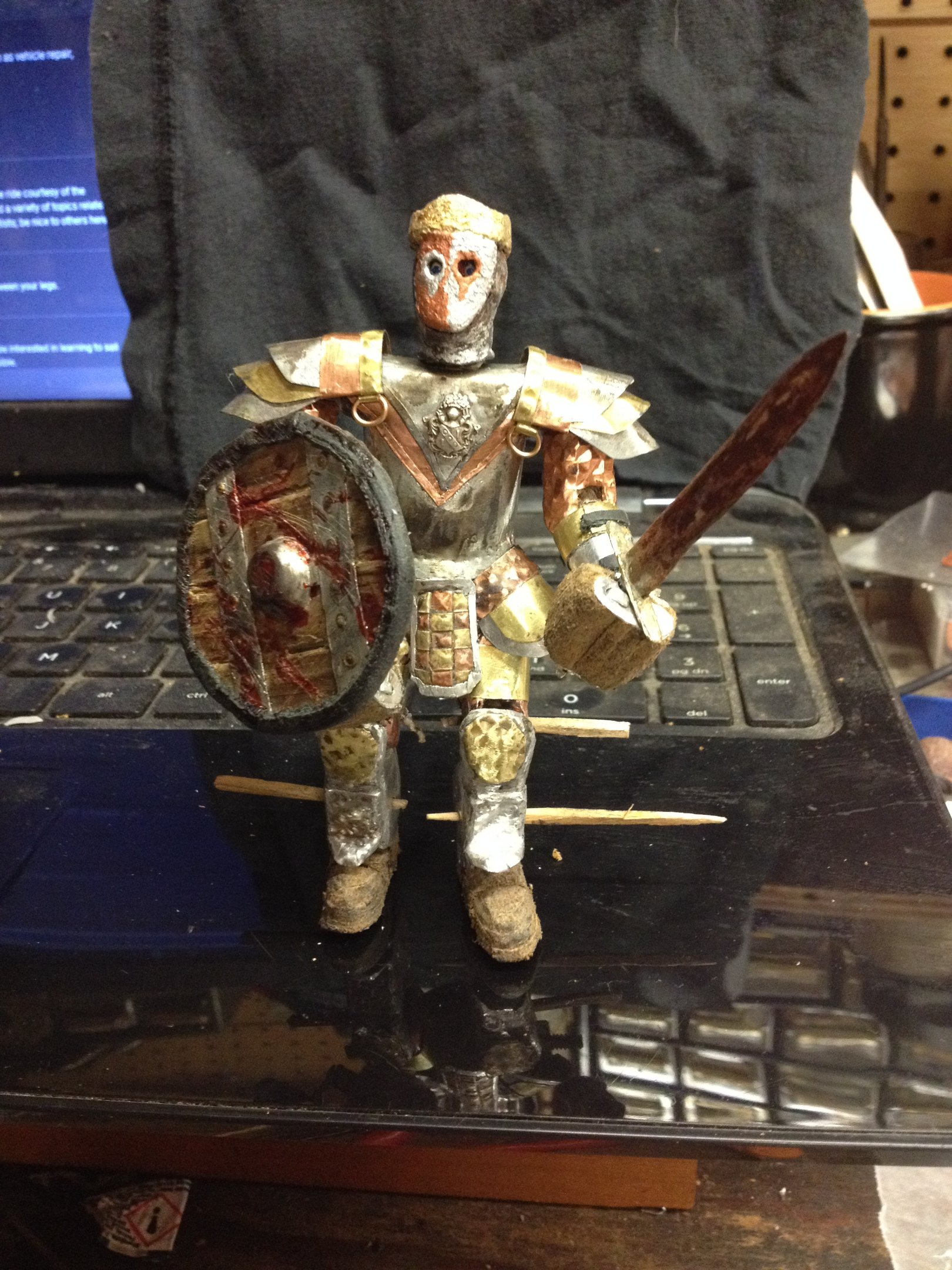 """img_0059-jpg.47143_The Faceless King (Bespoke 4"""" articulated action figure)_Art & Music_Squat the Planet_12:34 AM"""