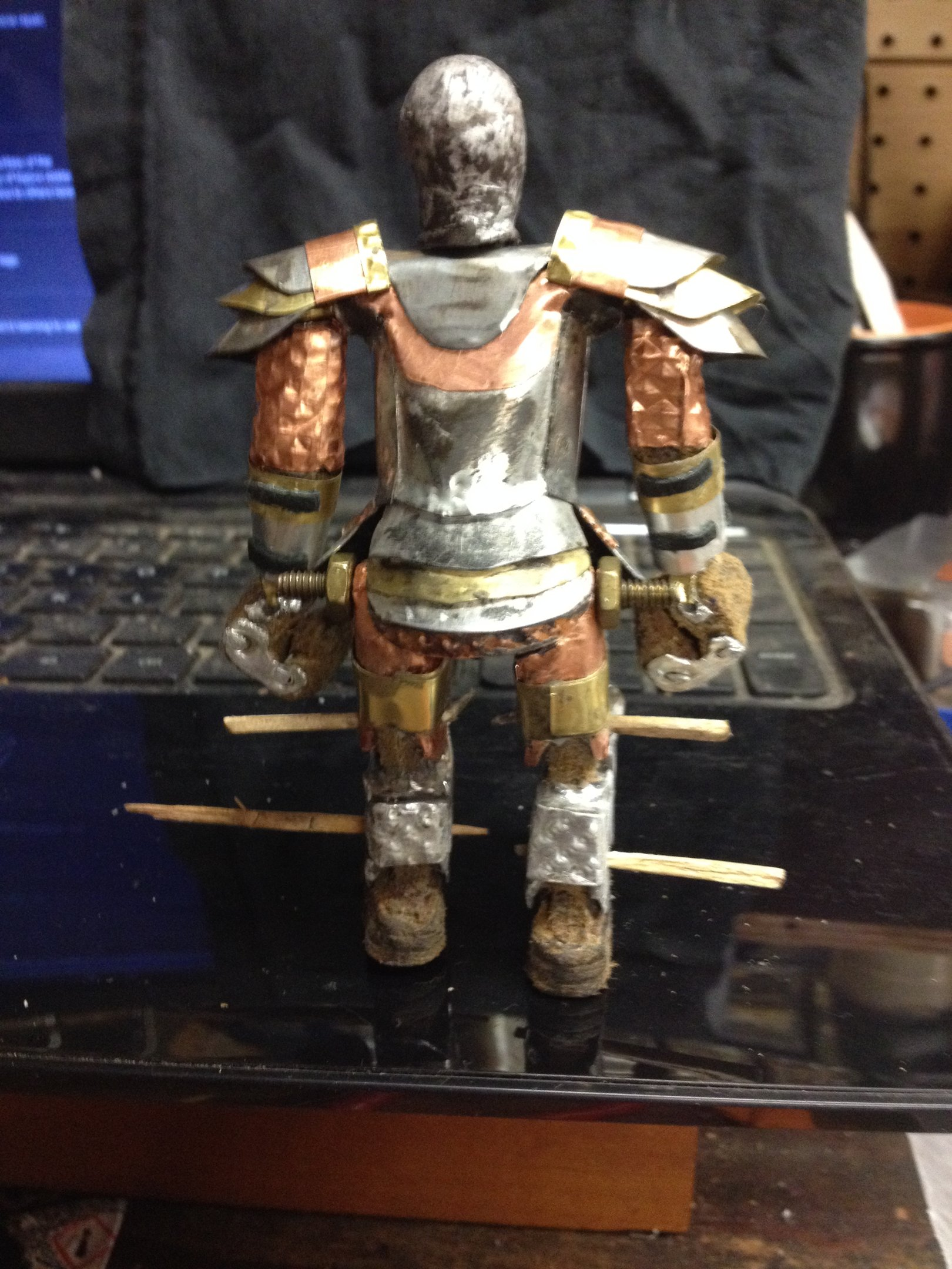 """img_0062-jpg.47145_The Faceless King (Bespoke 4"""" articulated action figure)_Art & Music_Squat the Planet_12:34 AM"""