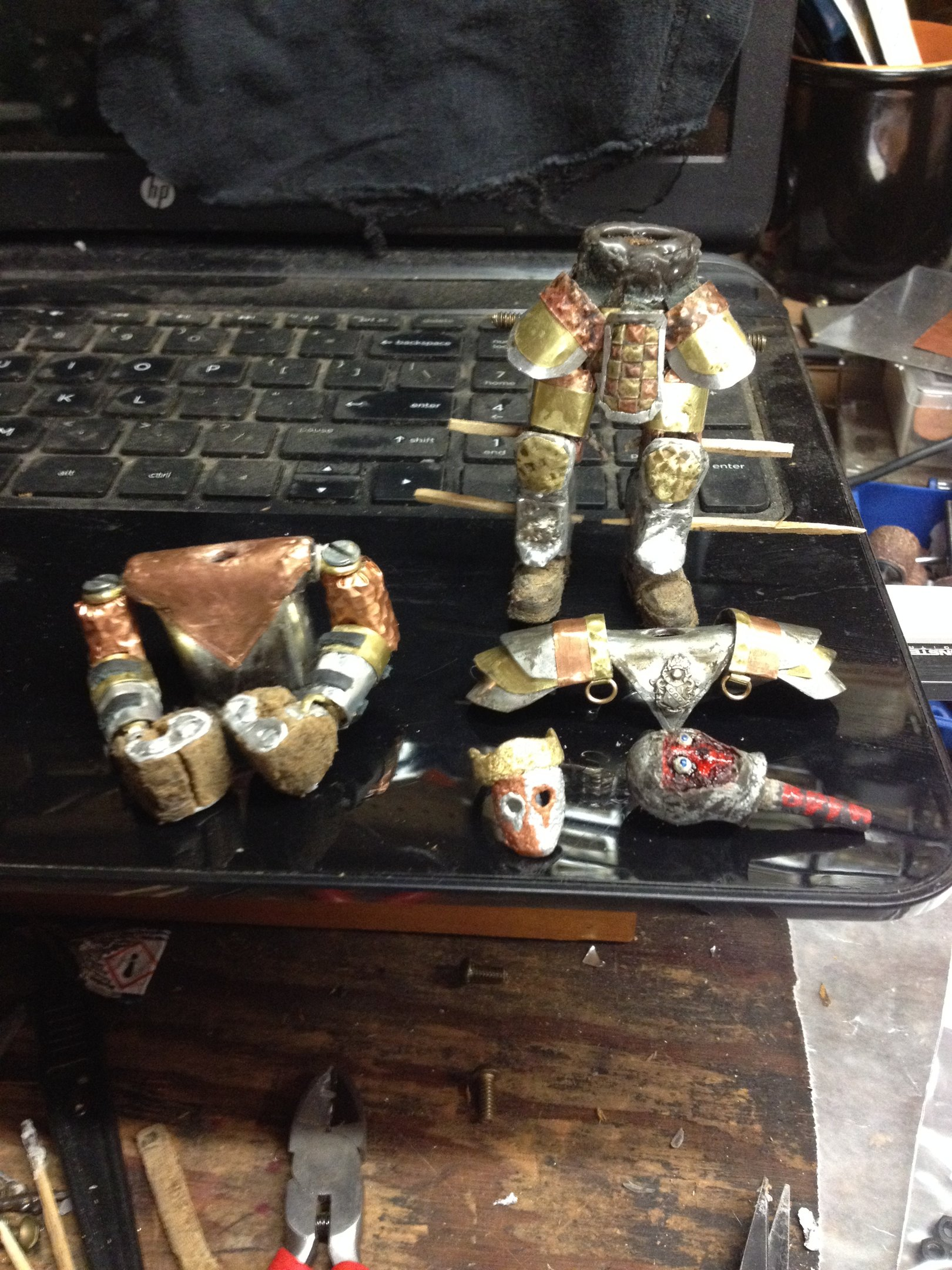 """img_0065-jpg.47147_The Faceless King (Bespoke 4"""" articulated action figure)_Art & Music_Squat the Planet_12:34 AM"""
