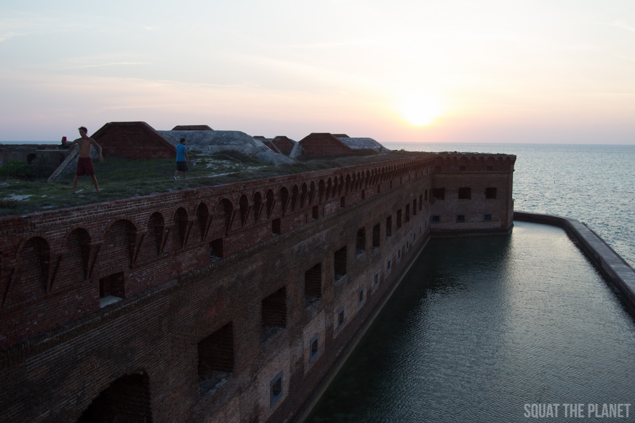 moat-surrounding-the-fort_05-08-2013-jpg.11983_Sailing the Dry Tortugas and Decapitation_Boat Punk / Sailing_Squat the Planet_5:19 PM