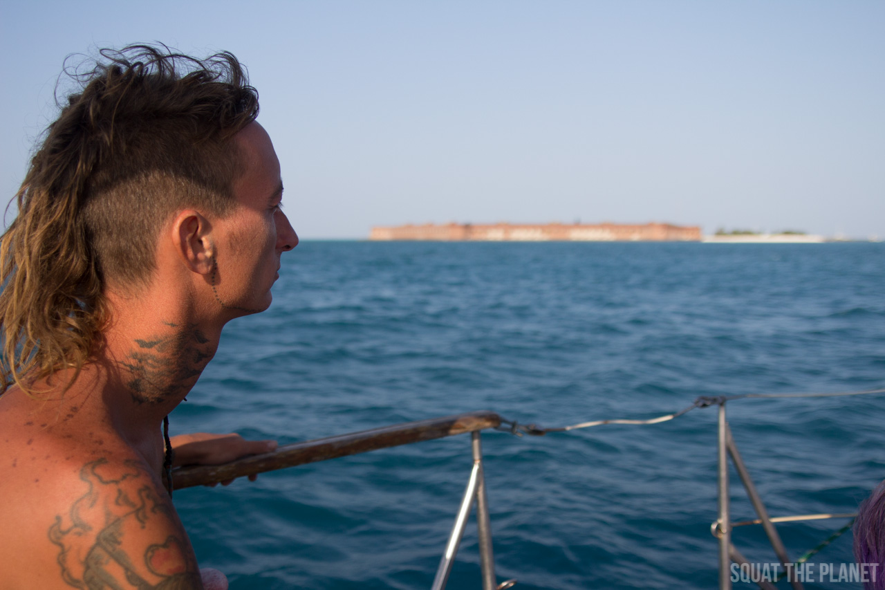 mohawk-ryan-and-fort-jefferson_05-08-2013-jpg.11982_Sailing the Dry Tortugas and Decapitation_Boat Punk / Sailing_Squat the Planet_5:19 PM