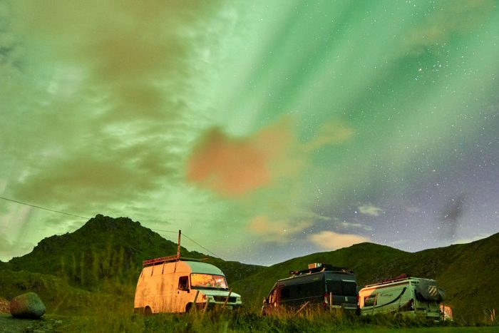 northern-lights-aurora-lofoten-by-campervan-haukland-beach-9-700x467-jpg.47605_Lofoten by Campervan: Watching the Northern Lights on Haukland Beach_Van Dwelling / Rubber Tramping_Squat the Planet_3:02 PM