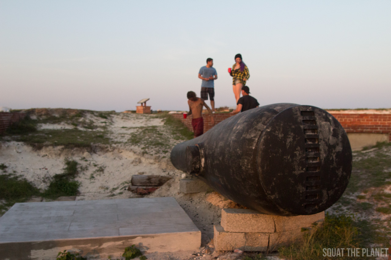 playing-on-cannon_05-08-2013-jpg.11981_Sailing the Dry Tortugas and Decapitation_Boat Punk / Sailing_Squat the Planet_5:19 PM