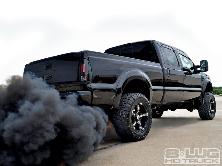 Roll Coal Intentional Black Sooty Smoke From Diesel Vehicles