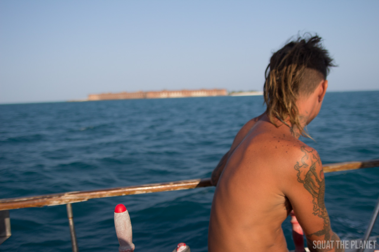 ryan-and-fort-jefferson_05-08-2013-jpg.11977_Sailing the Dry Tortugas and Decapitation_Boat Punk / Sailing_Squat the Planet_5:19 PM