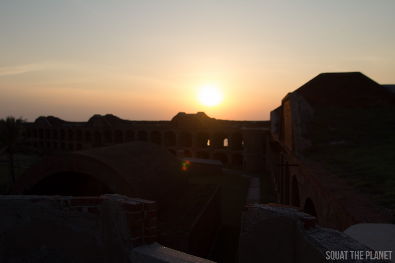 sunset-over-fort-jefferson_05-08-2013-jpg.11969_Sailing the Dry Tortugas and Decapitation_Boat Punk / Sailing_Squat the Planet_5:19 PM