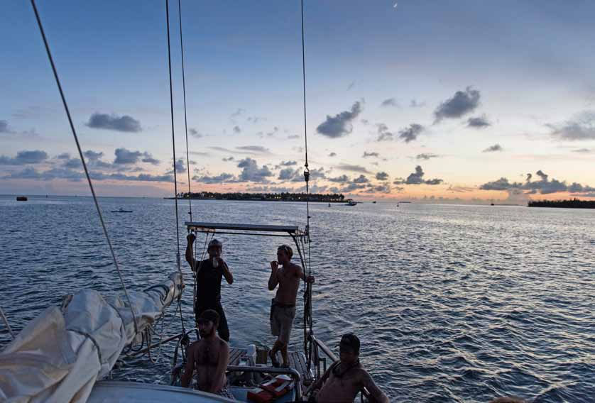 sunsetkeywest-jpg.11942_Boat punks in german magazine neon_Boat Punk / Sailing_Squat the Planet_{posttime}