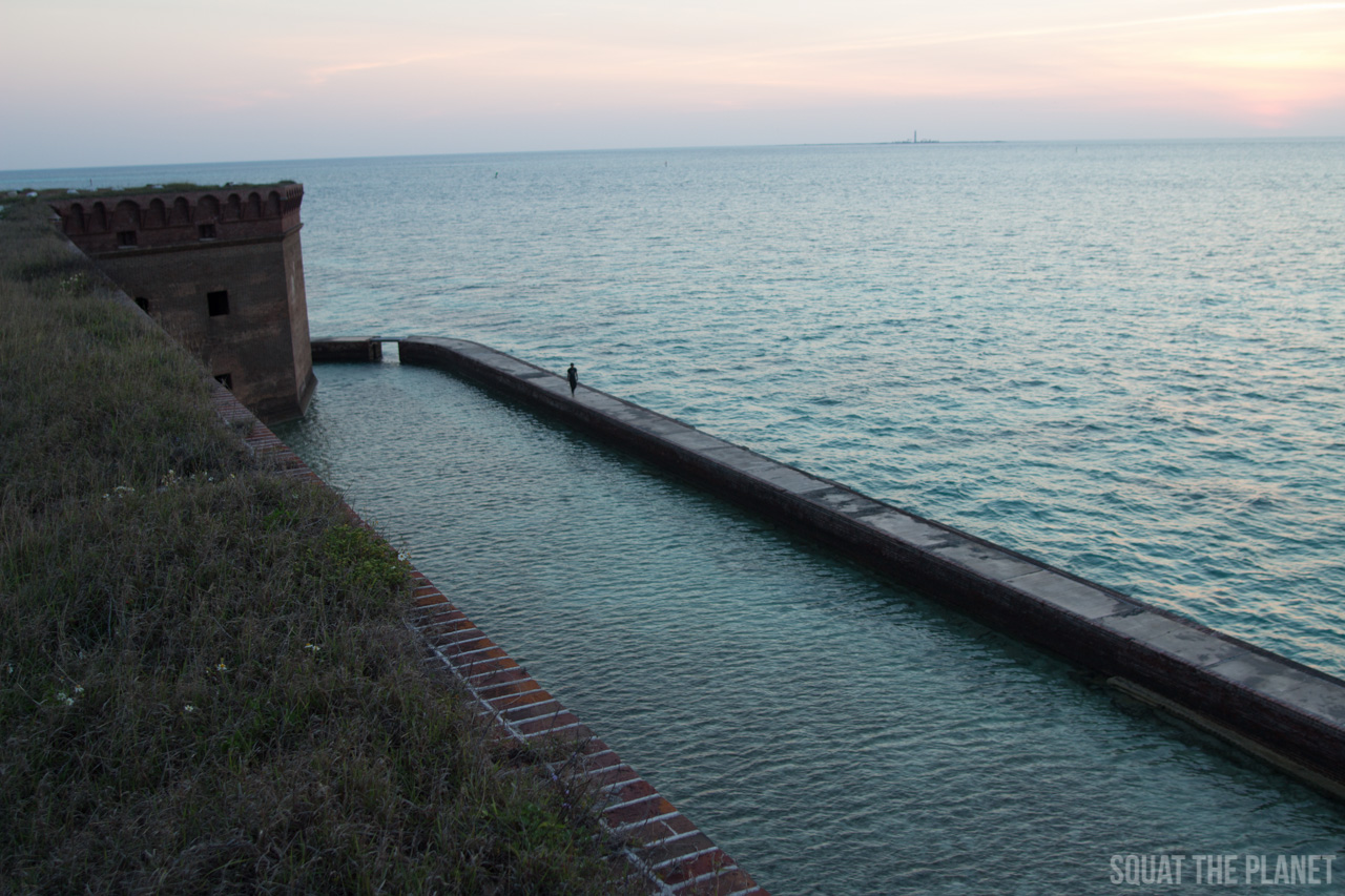 tyler-walks-around-the-moat_05-08-2013-jpg.11968_Sailing the Dry Tortugas and Decapitation_Boat Punk / Sailing_Squat the Planet_5:19 PM